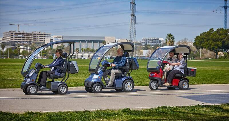 mobility scooters in urban area